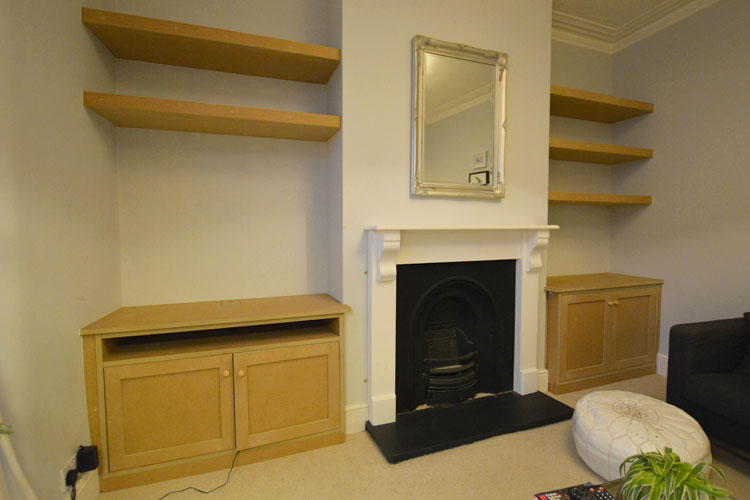 Bespoke Alcove Cupboards Amp Shelving Bristol Hand Build